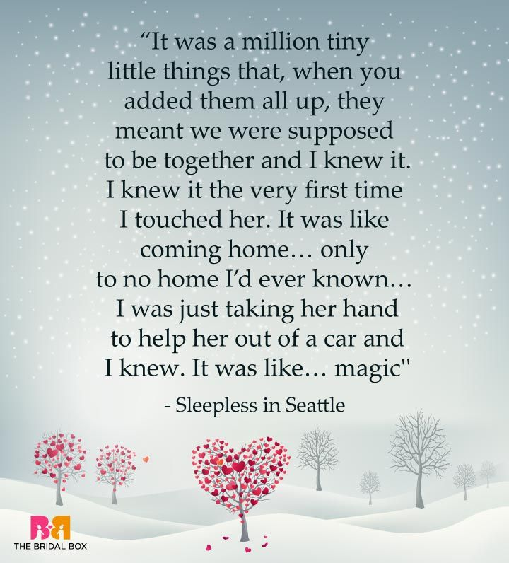 One Line Love Quotes For Her   Sleepless In Seattle