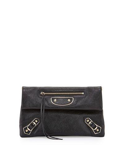 3882b913ce BALENCIAGA Metallic Edge Classic Envelope Clutch Bag