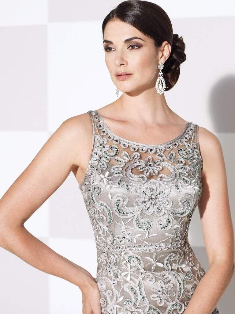d1508941ad Cameron Blake by Mon Cheri - Bateau Neckline Long Evening Gown 115604 – Couture  Candy