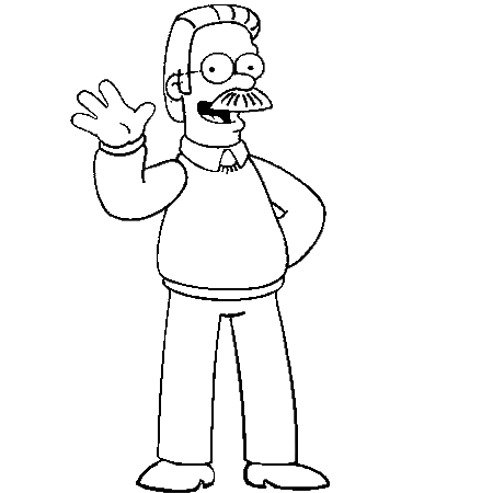 Dessin ned flanders a colorier | Colouring book adult | Pinterest ...