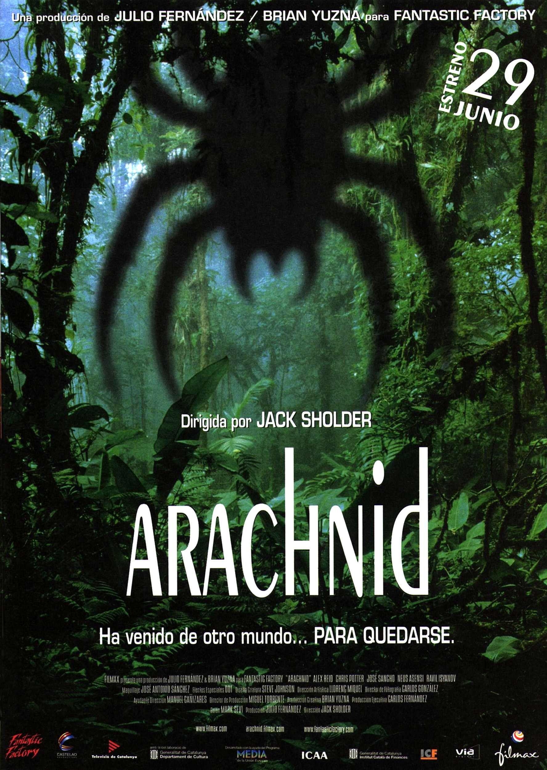 Arachnid 2001 horror films film movie covers