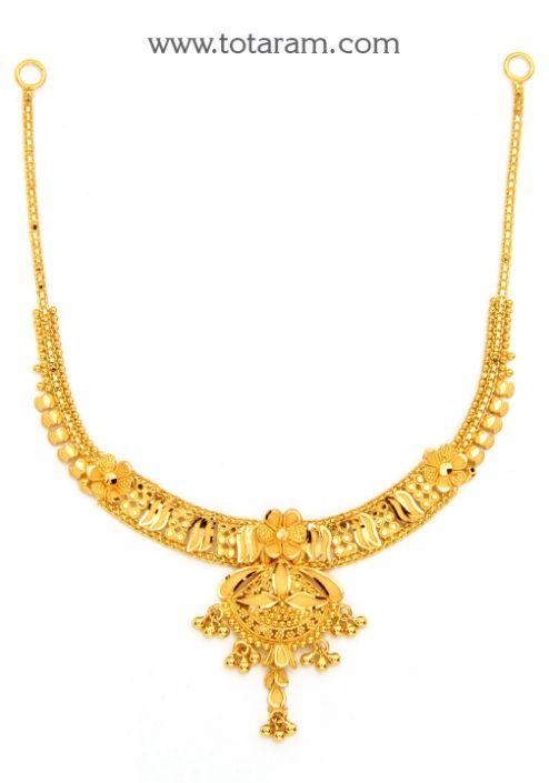 22K Gold Necklace Totaram Jewelers Buy Indian Gold jewelry 18K