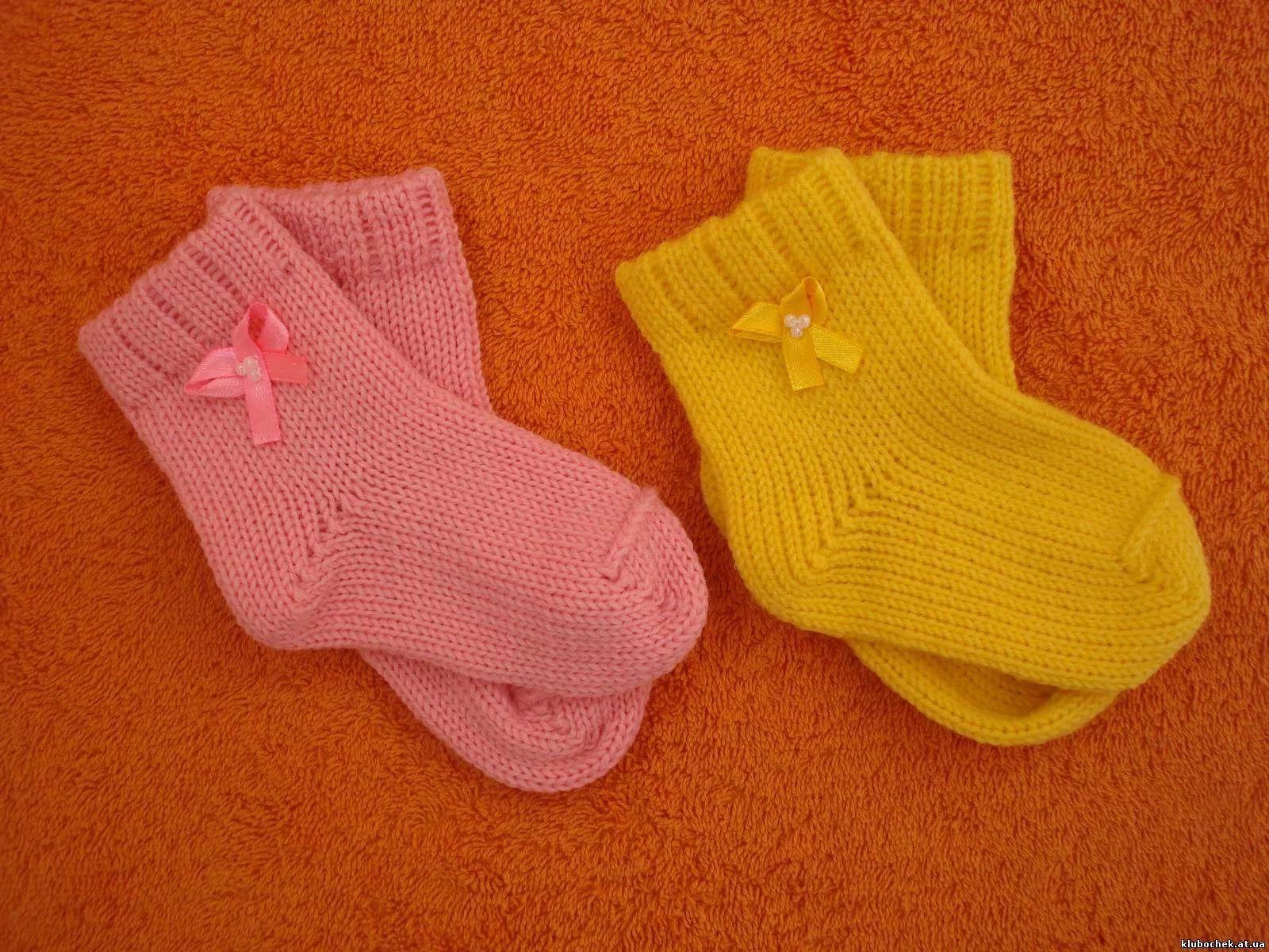 носочки для новорожденных спицами схемы от 0 до 2 месяцев ...