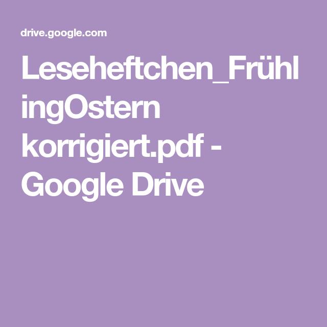 leseheftchenfrühlingostern korrigiertpdf  google drive