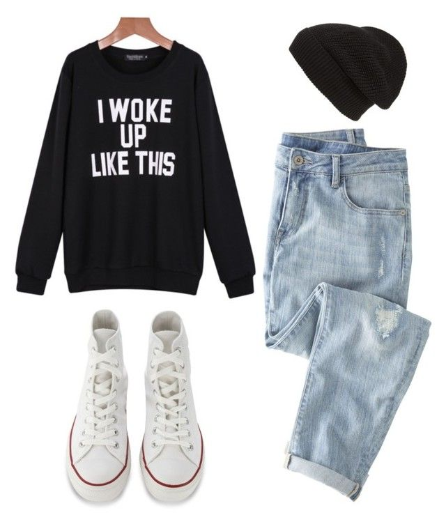 """""""Outfit Idea by Polyvore Remix"""" by polyvore-remix ❤ liked on Polyvore featuring moda, Phase 3, Wrap y Converse"""
