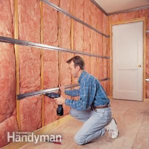 How to Soundproof a Room - i will have to put a lot of chalk on the ceiling joist.