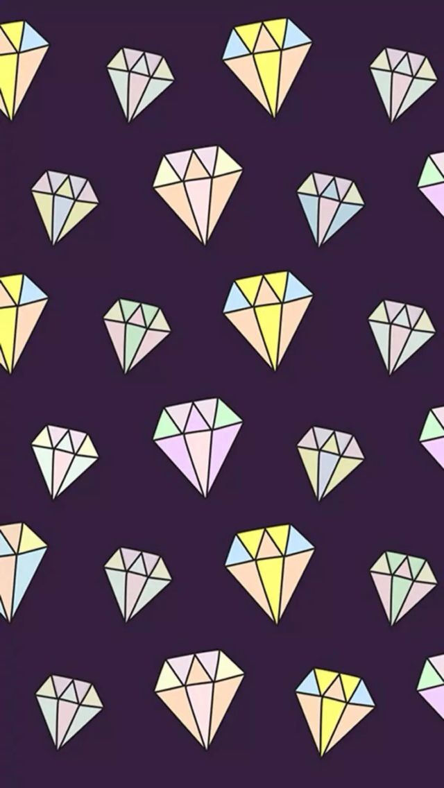 Cute Wallpaper Diamonds Pink Iphone