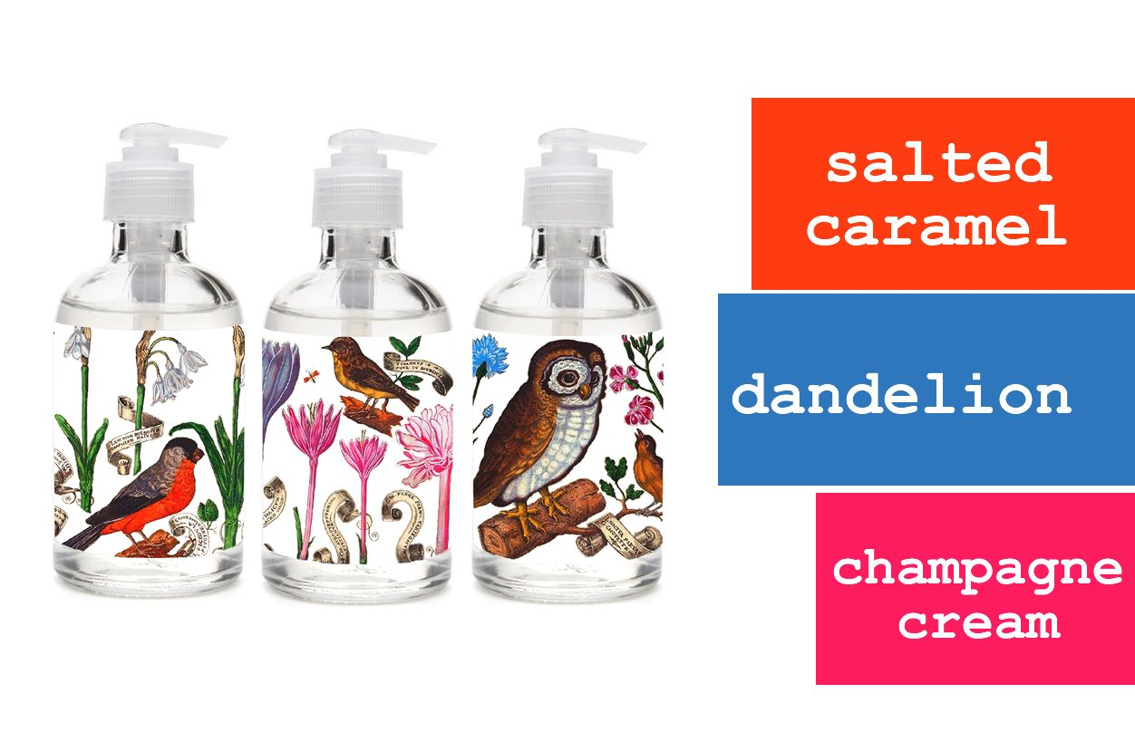 FILLED WITH SCENTED SOAP--CAN BE REFILLED OWL  SOAP DISPENSER