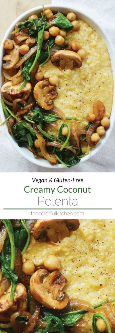 Creamy Coconut Polenta from The Colorful Kitchen Cookbook + GIVEAWAY #easyrecipedinner
