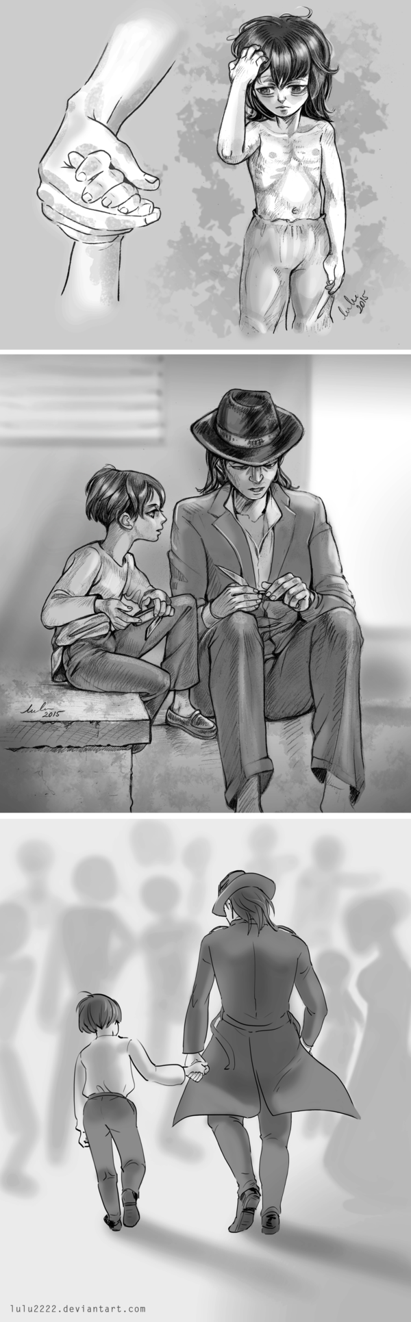 Little Levi and Kenny by Lulu2222