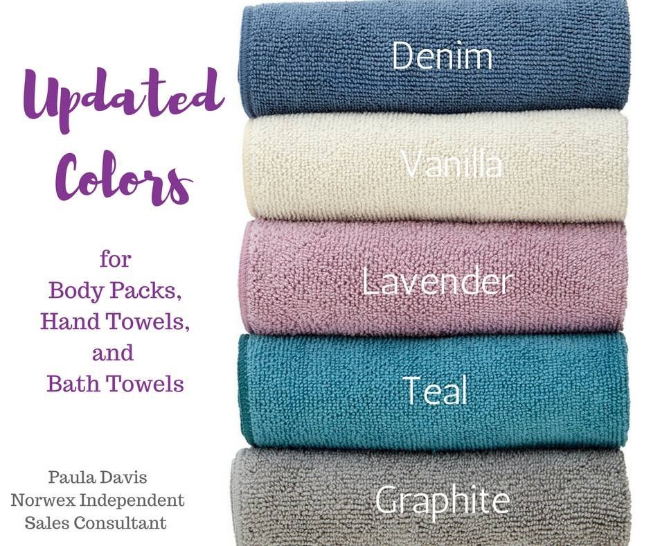 Norwex Bath Towels Delectable Spring Colors For Norwex Bathroom Microfiber Body Packs Hand Design Inspiration