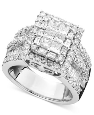 jewellery products diamond large ring rings tone white gold two