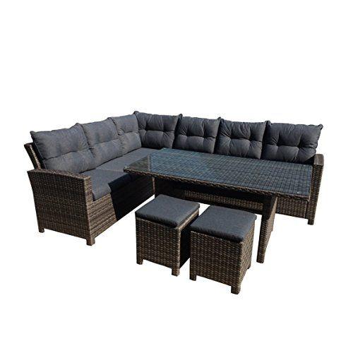 greemotion 129881 Rattan Lounge Set TESSIN-Loungemöbel 5teilig für