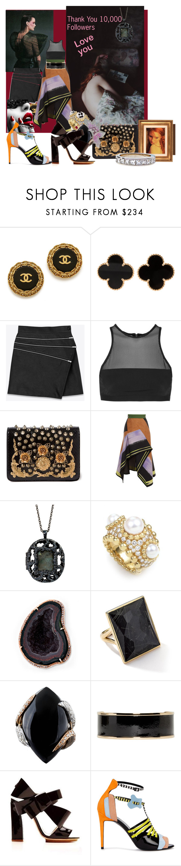"""Thank You 10,000 Followers"" by aciellelacie ❤ liked on Polyvore featuring Van Cleef & Arpels, Yves Saint Laurent, T By Alexander Wang, Dolce&Gabbana, Peter Pilotto, Antonym, Chanel, Ippolita, Luca Carati and Balmain"