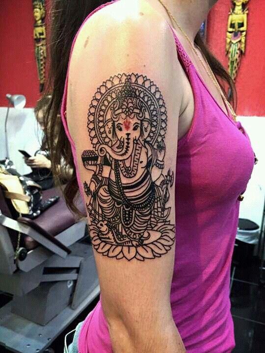 Ganesha amazing tattoo❤❤