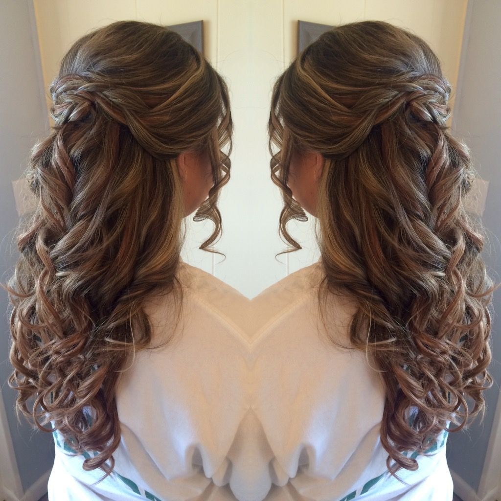 Half up half down prom hair styles by hairstyles for wedding