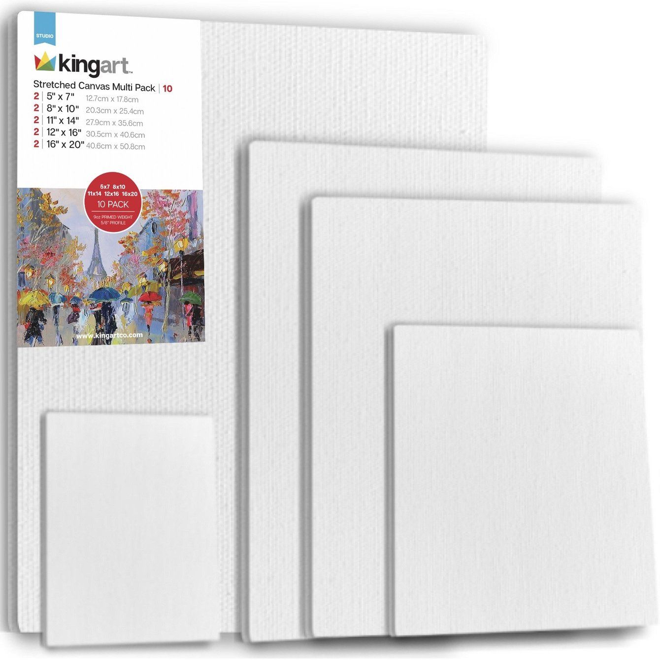 9 x 28 Boards Multi-Pack 5 x 7 8 x 10 Pre-Primed Painting Canvas Panels