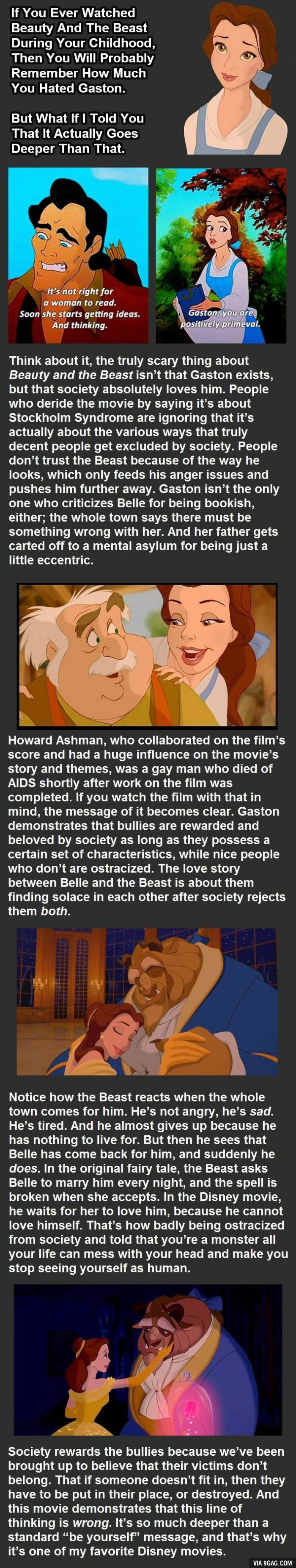 This just changed the way we see Beauty and the Beast  Mind blown  is part of Disney theory - More memes, funny videos and pics on 9GAG