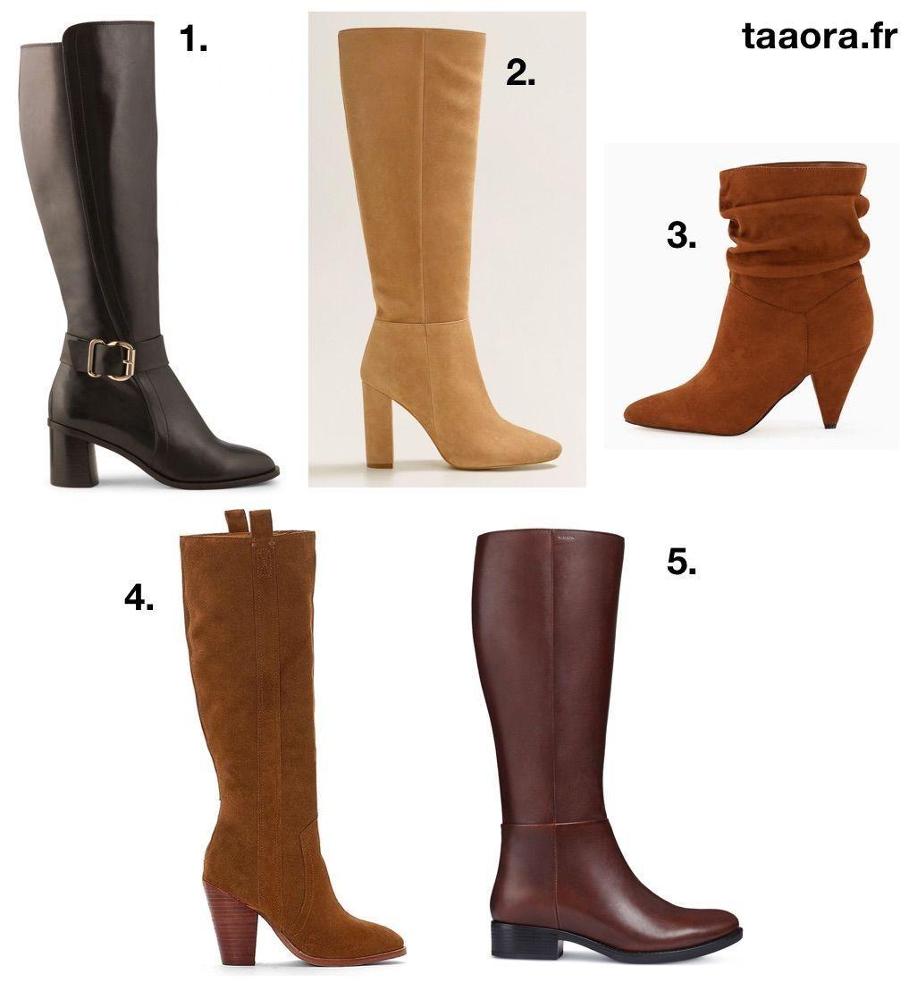 5 bottes tendances automne,hiver 2018,2019 bottes boots chaussures ah19  fw19