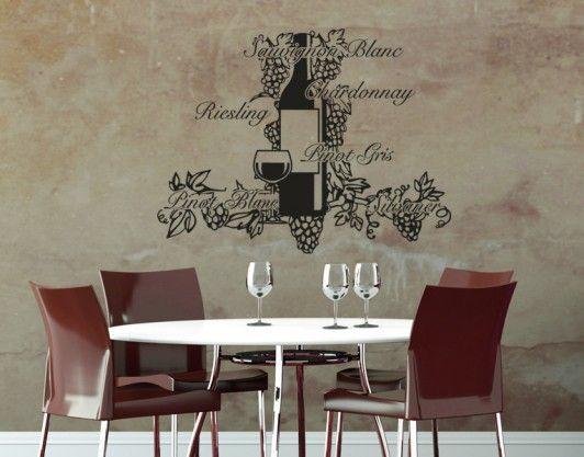 Wine Pleasure   Wall Decals / Wall Tattoo   COCKTAILS U0026 DRINKS   KITCHEN U0026  DELIGHTS