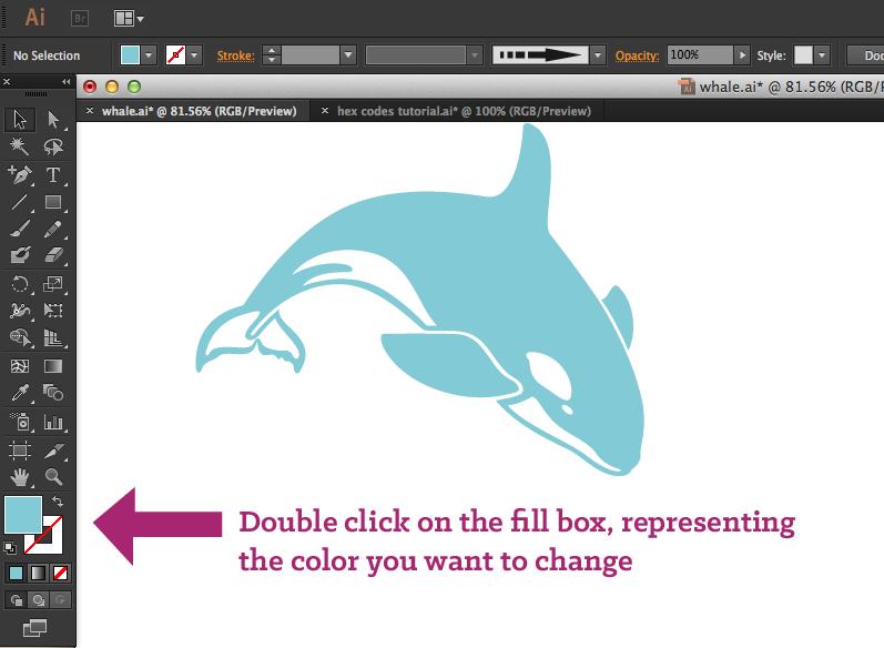 Design Tip Hex Code Color Changes In Illustrator Coding Color Change Hex Codes