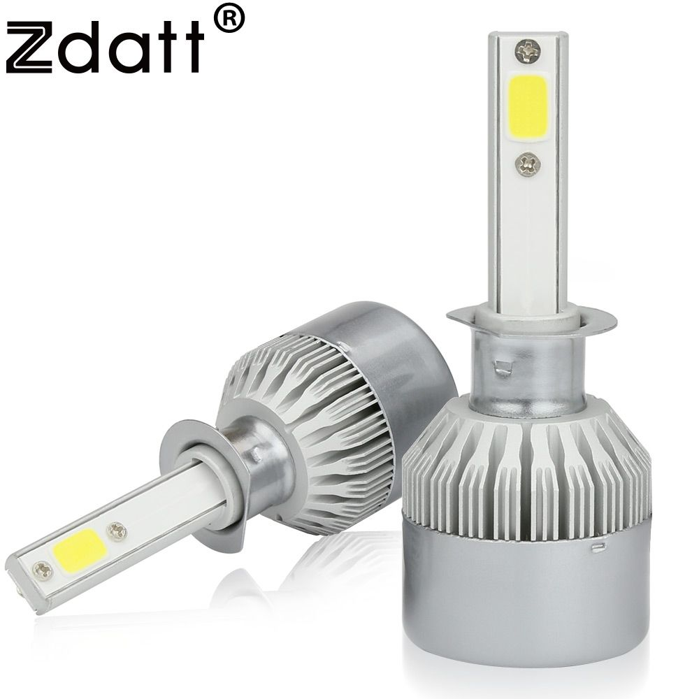 sale zdatt 2pcs super bright h1 led bulb 80w 8000lm headlights car ...