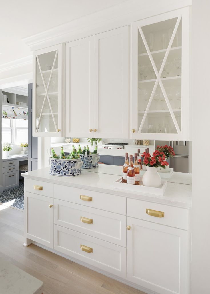 15 Stunning Kitchens With Shaker Cabinets | Glass kitchen ...
