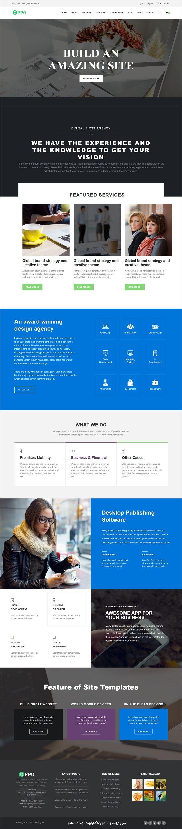 Oppo | The Responsive Multi-Purpose HTML Template | Creative studio ...