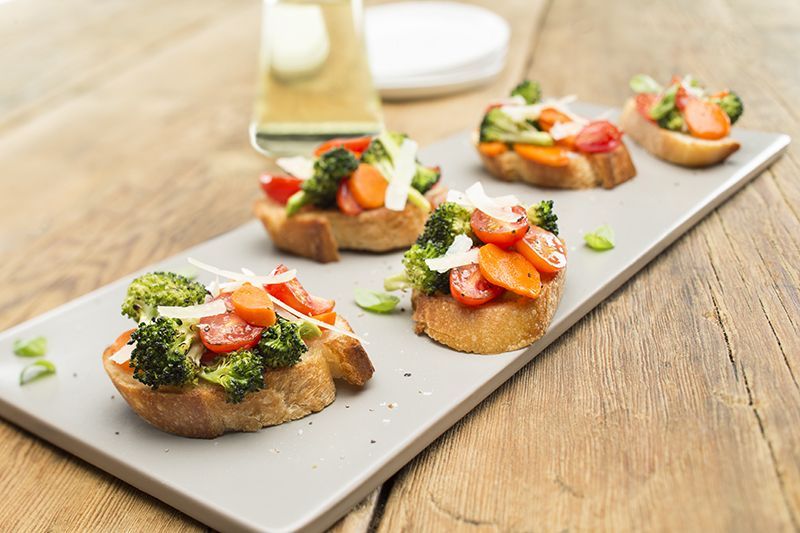 Roasted Veggie Bruschetta Recipe - Good Fats 101