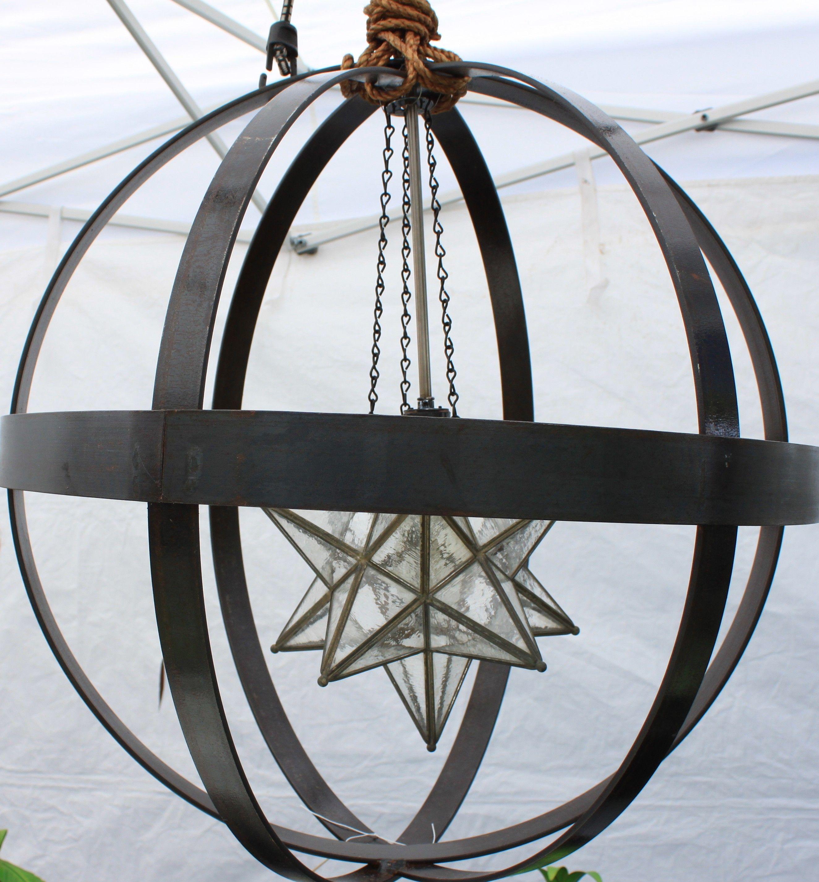 Handmade orb chandelier featured on Flea Market Flip