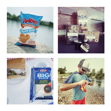This one time on Route 66 ... I loaded up  up the car with 10 bags of Ruffles Cheddar Sour Cream Potato Chips  and 10 bags of Peets coffee and I could not be without my Kraft Big Slice Jalapeno White ...