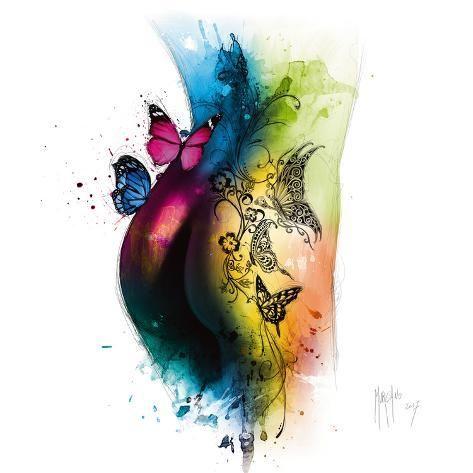'Butterfly Tattoo' Art Print - Patrice Murciano | Art.com