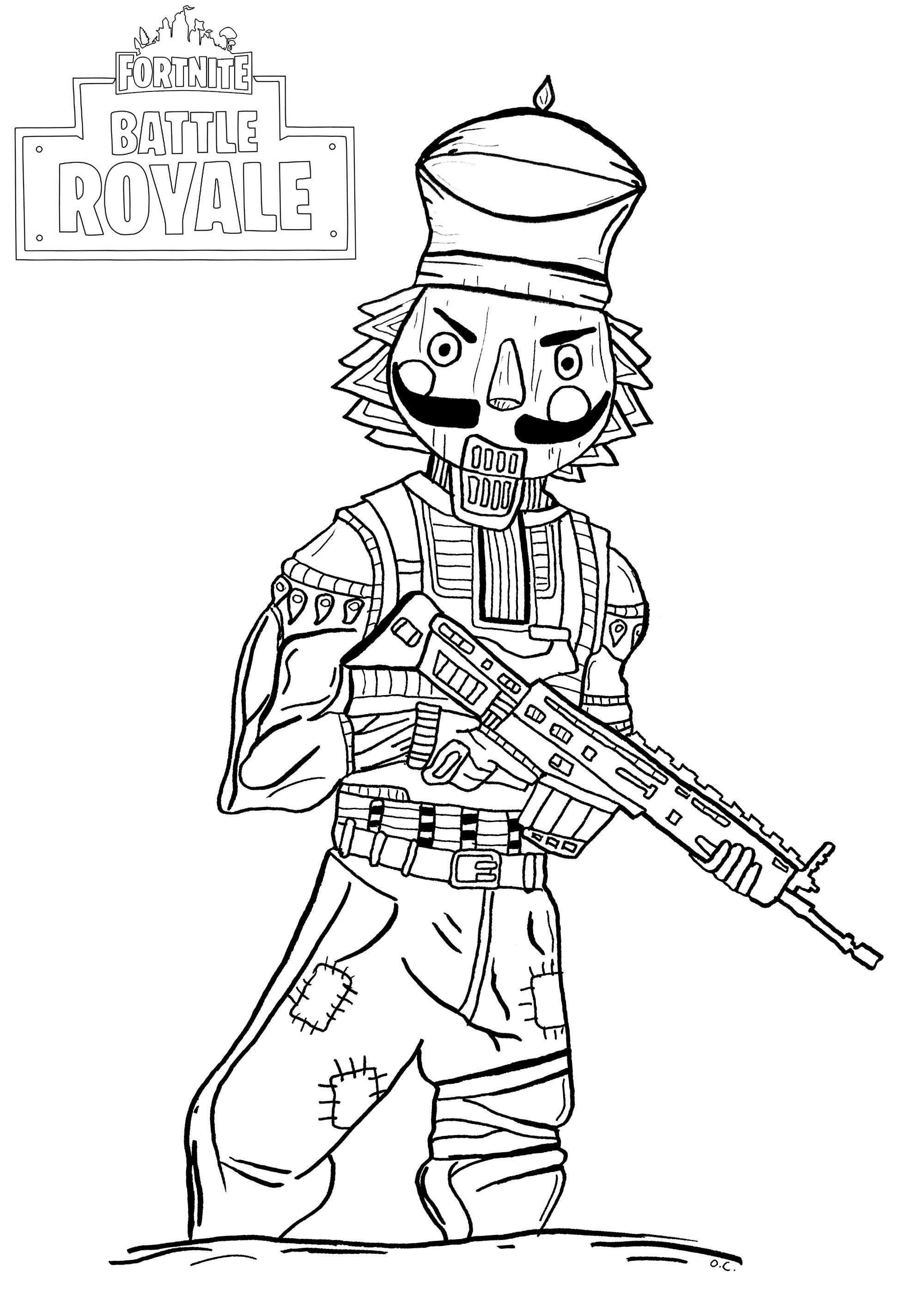 25 Fortnite Coloring Pages Dark