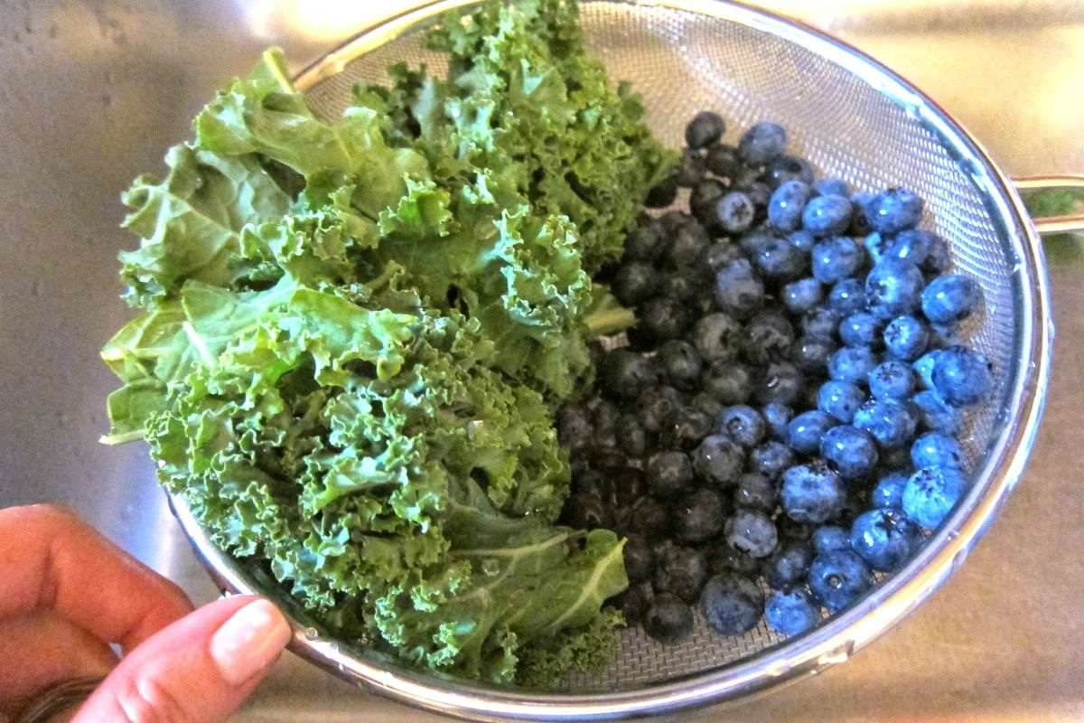 Blueberries and kale pureed food recipes baby food