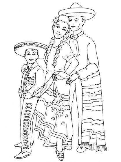 Art 30 coloriages sur le th me du mexique alternativa mexican embroidery mexico et - Dessin du mexique ...