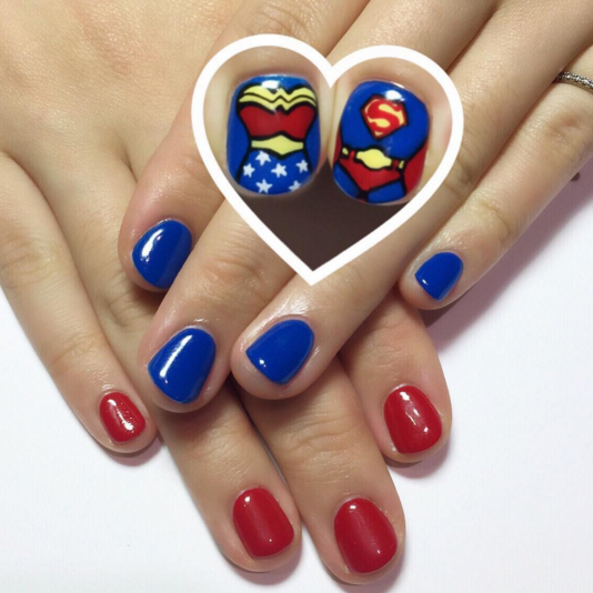 Nails Wonder Woman Can Nail Art Be Feminist: Hell Yeah Superman-n-Wonder Woman • Superman/Wonder Woman