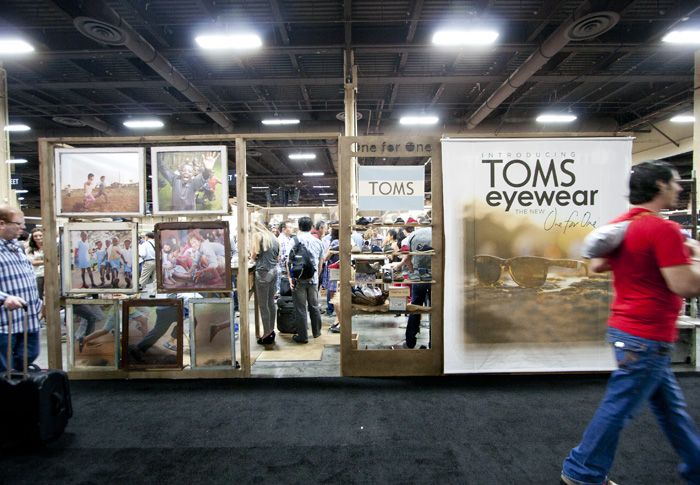 Exhibition Booth Sia : Toms shoes tradeshow booth camp design group retail