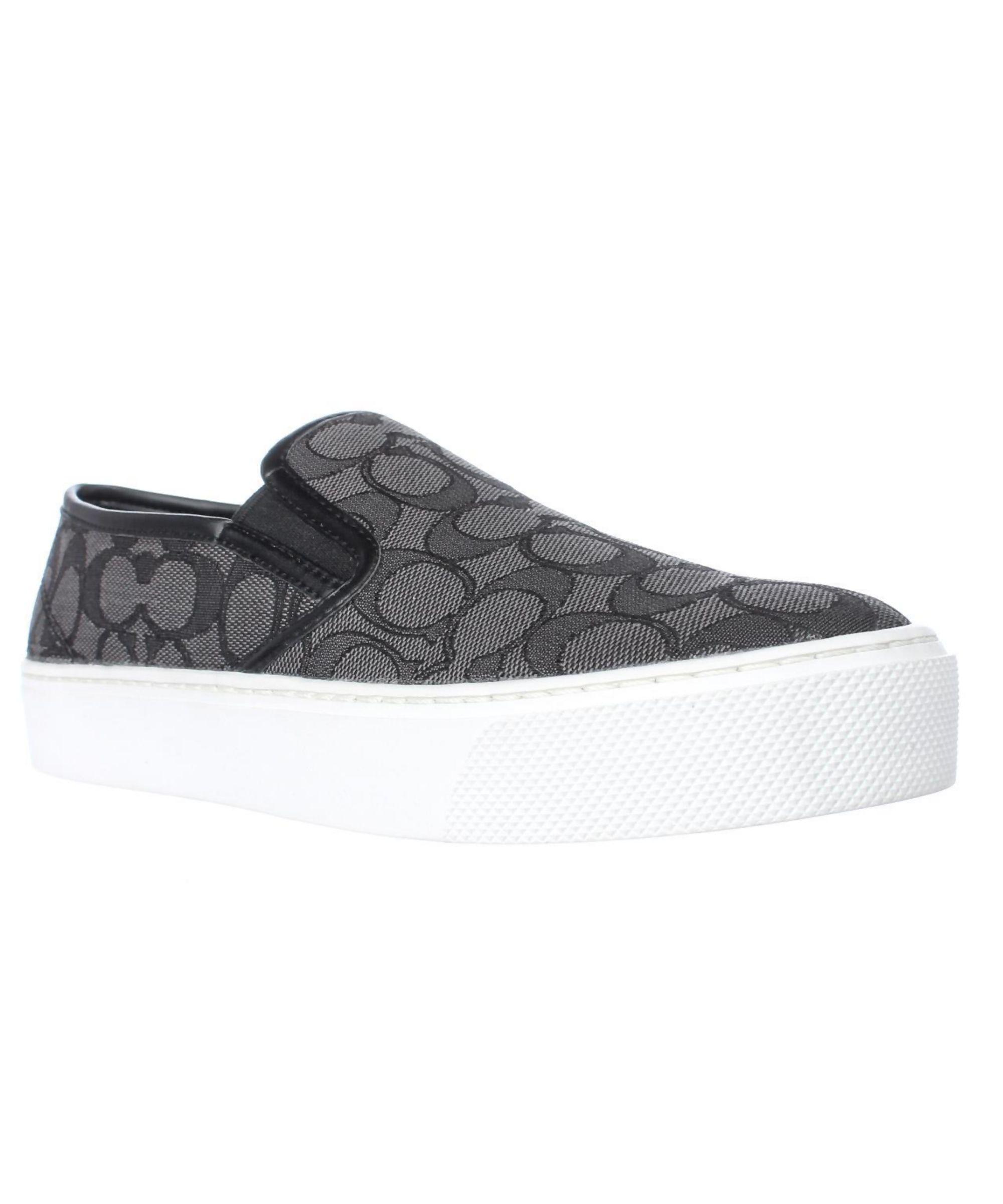 9ce30b31b9 COACH | Coach Cameron Logo Fashion Sneakers, Smoke Coal/Black #Shoes # Sneakers #COACH