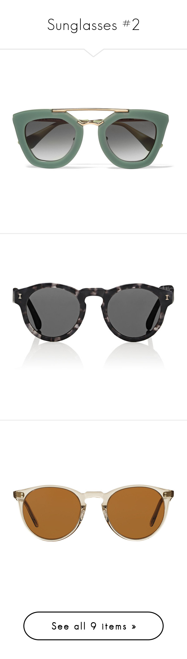 """""""Sunglasses #2"""" by majo-cote on Polyvore featuring accessories, eyewear, sunglasses, tortoiseshell glasses, christian dior, christian dior eyewear, logo sunglasses, tortoise sunglasses, glasses y mint"""