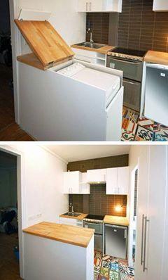 Cacher Une Cuisine Ouverte cacher la machine à laver. | .acheter. | pinterest | cacher, la haut