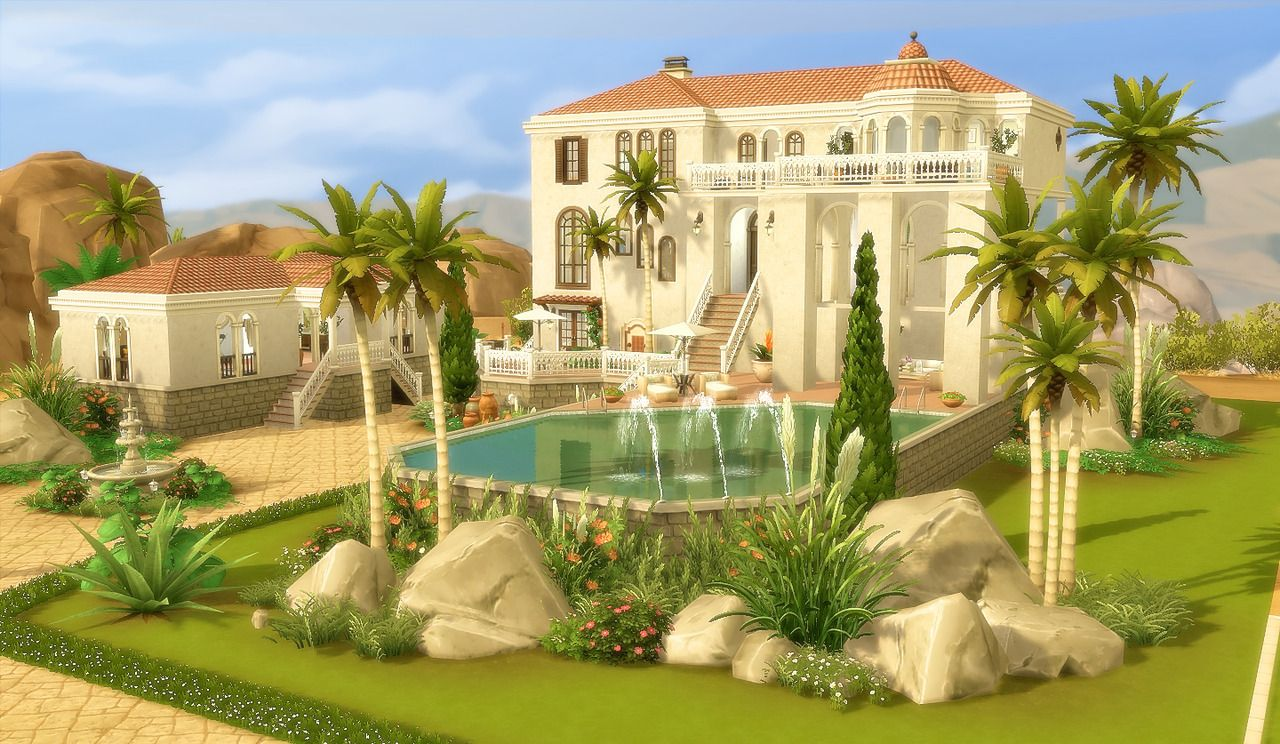 House 44 Oasis Springs The Sims 4 No Cc Download And More