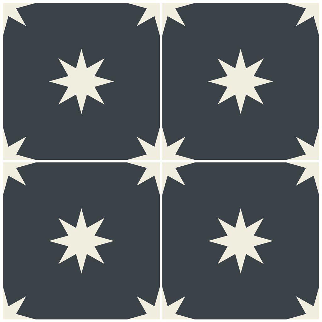 Starry In Night Black Vinyl Tile Sticker Tile Decals Floor Stickers Vinyl Wallpaper