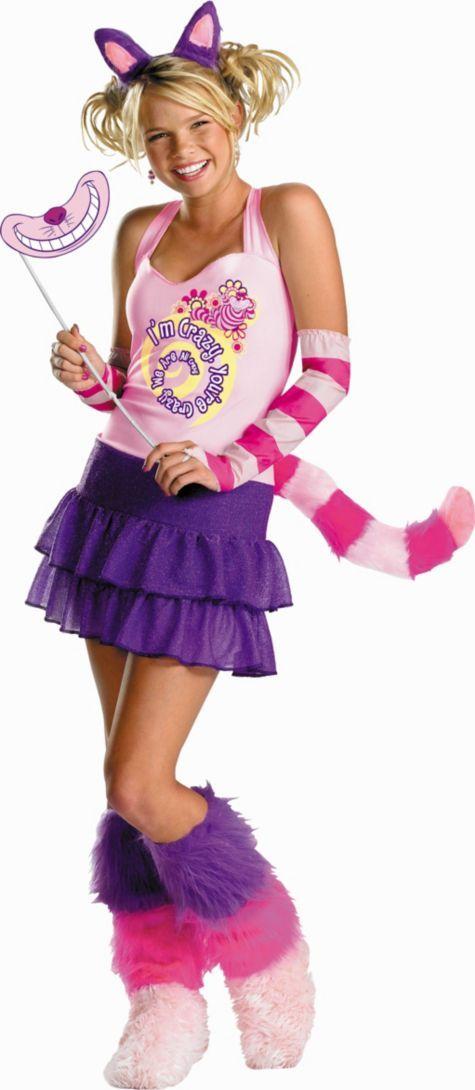 Teen Girls Cheshire Cat Costume 3999 Alice in Wonderland Party