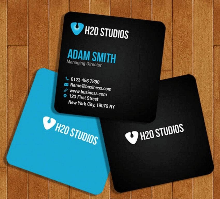 50 fresh square business card template free in 2020 mini