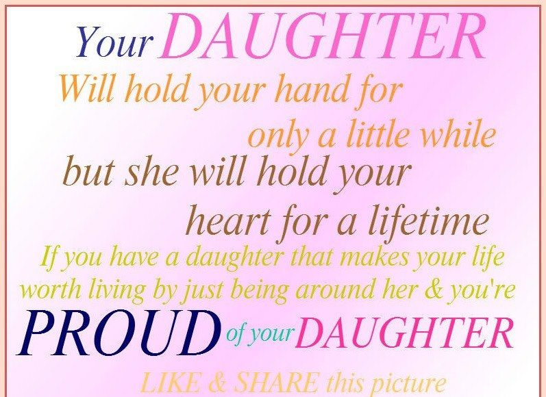 Sensational Your Daughter Will Hold Your Hand For Only A Little While But She Personalised Birthday Cards Paralily Jamesorg
