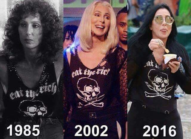 Cher! (The older we get, the more we get to be like ourselves.)