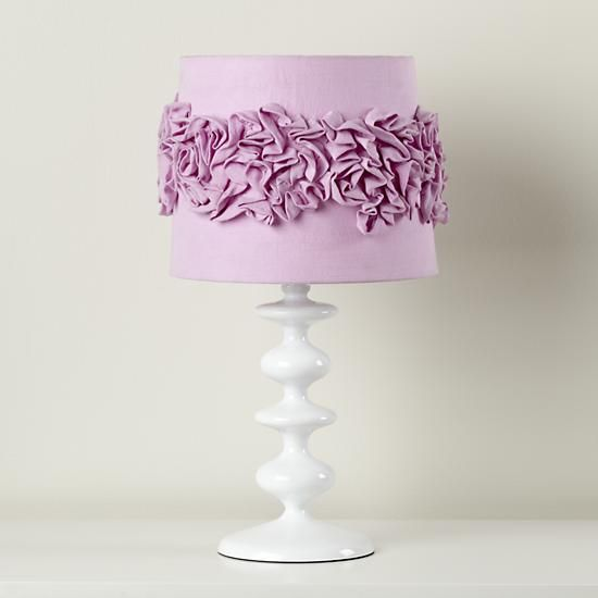 For hadley the land of nod kids lamp shades purple ruffled lamp the land of nod kids lamp shades purple ruffled lamp shade mozeypictures Gallery