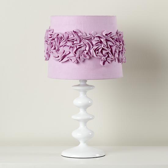 The Land of Nod | Kids Lamp Shades: Purple Ruffled Lamp ...