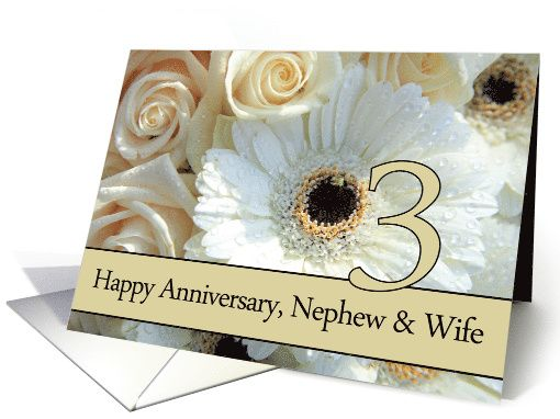 Rd anniversary nephew wife pale pink roses card