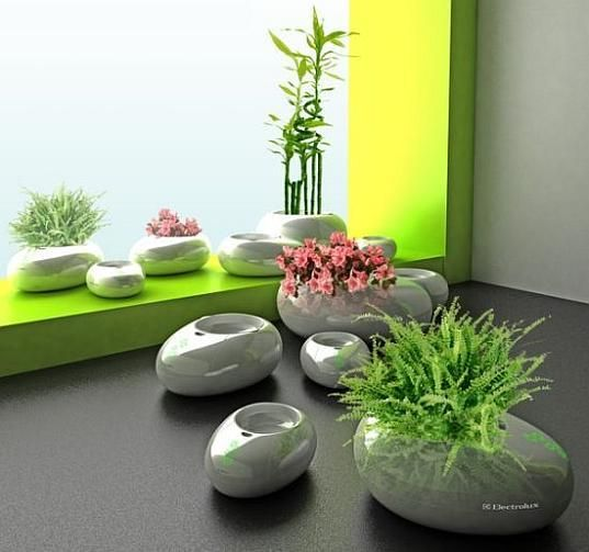 Bon Hydroponic Containers With Plants And Flowers, 21 Eco Home Decorating Ideas